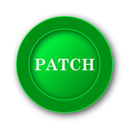 Patch icon. Internet button on white background.