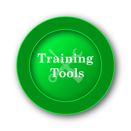 school strategy: Training tools icon. Internet button on white background.