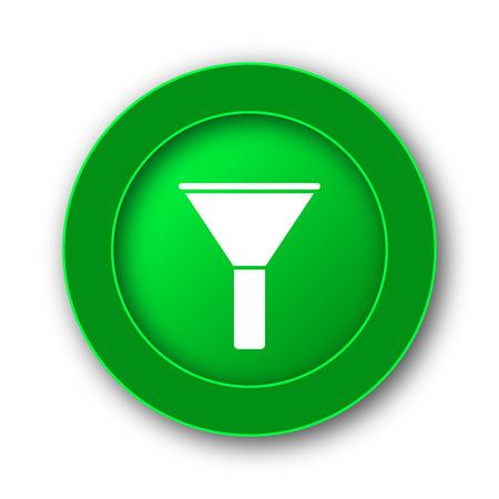 Filter icon. Internet button on white background. Stock Photo