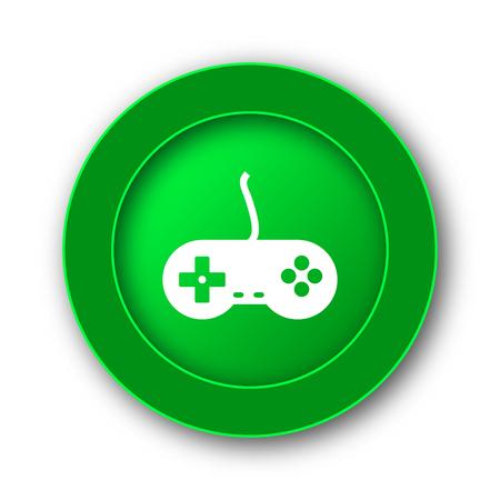 Gamepad icon. Internet button on white background. Stock Photo