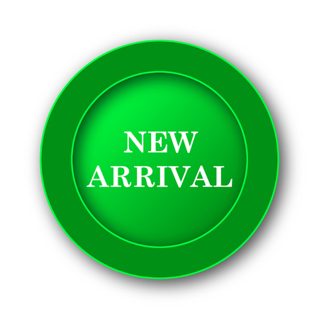 New arrival icon. Internet button on white background.
