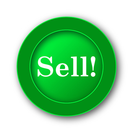 Sell icon. Internet button on white background.