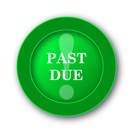 last chance: Past due icon. Internet button on white background.
