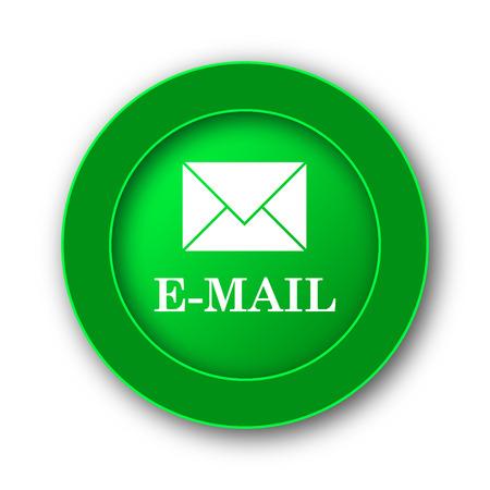 Icono de correo electrónico. Botón de internet sobre fondo blanco.