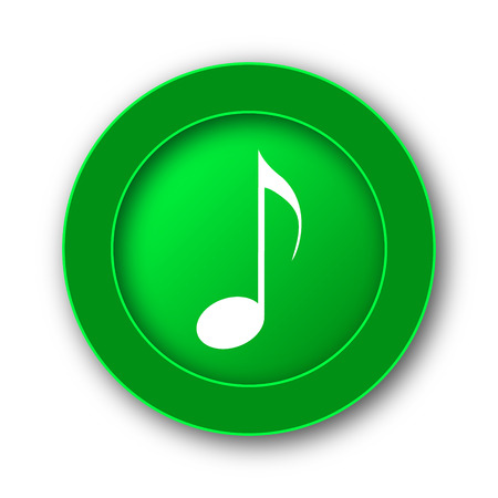 Musical note icon. Internet button on white background.