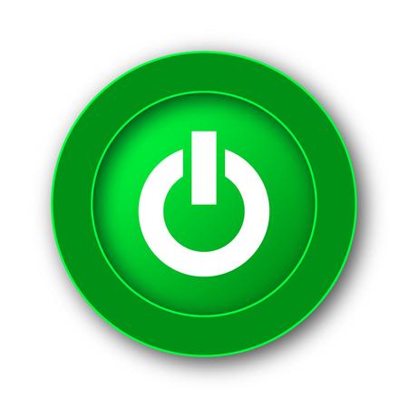 Power button icon. Internet button on white background.