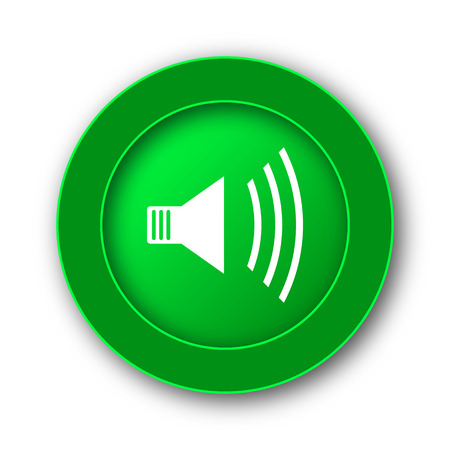 Speaker icon. Internet button on white background. Stock Photo