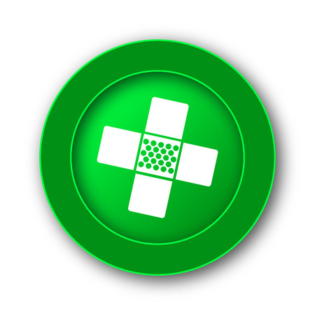 white patches: Medical patch icon. Internet button on white background.