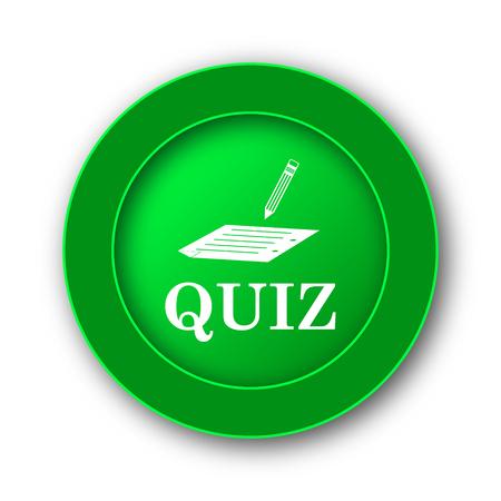 Quiz icon. Internet button on white background. Stock Photo