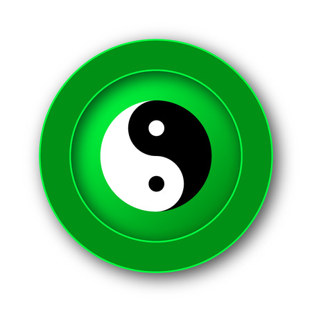Ying yang icon. Internet button on white background. Stock Photo
