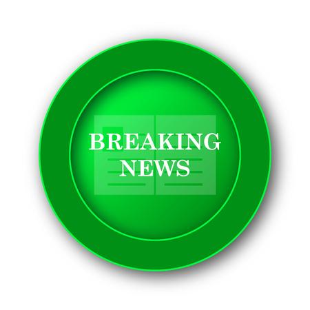 actual: Breaking news icon. Internet button on white background.