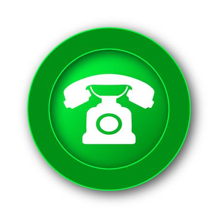 receiver: Phone icon. Internet button on white background. Stock Photo