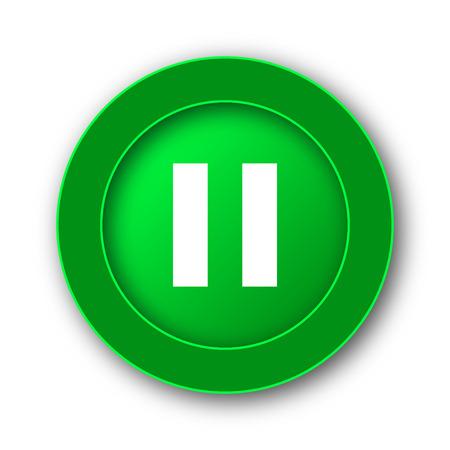 pause icon: Pause icon. Internet button on white background. Stock Photo