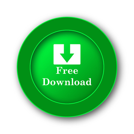 Free download icon. Internet button on white background.