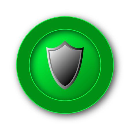 Shield icon. Internet button on white background.