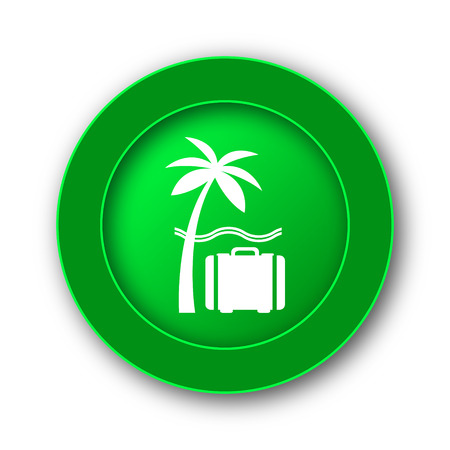 Travel icon. Internet button on white background. Stock Photo