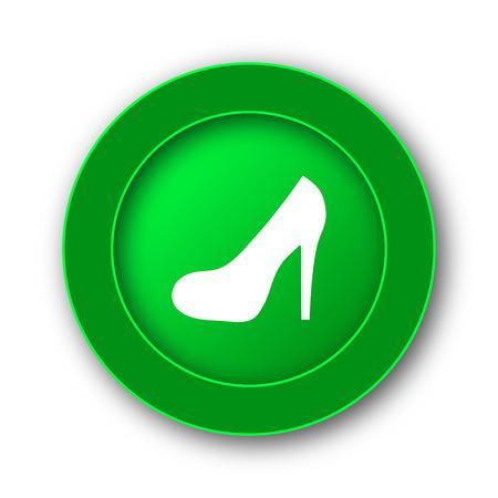 High heel icon. Internet button on white background. Stock Photo