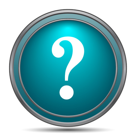 search query: Question mark icon. Internet button on white background.