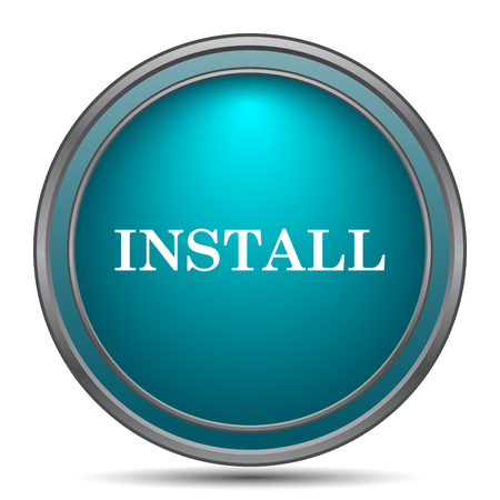 an operative: Install icon. Internet button on white background.