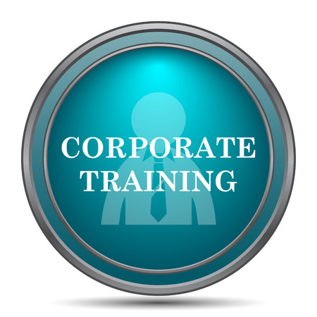 corporate training: Corporate training icon. Internet button on white background. Stock Photo
