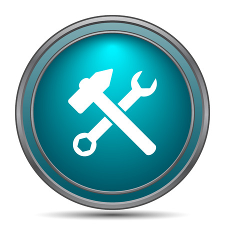 additional: Tools  icon. Internet button on white background. Stock Photo