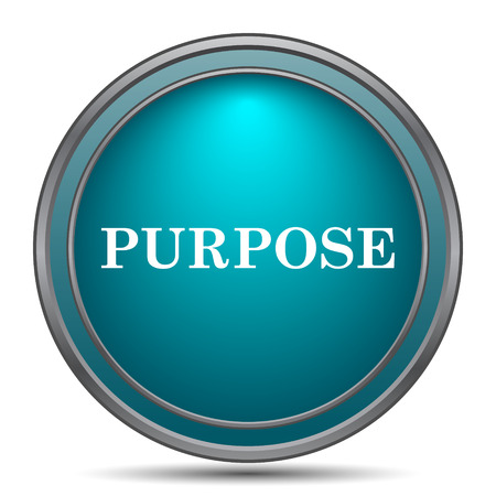 intention: Purpose icon. Internet button on white background. Stock Photo