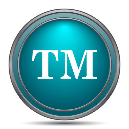 warrant: Trade mark icon. Internet button on white background.