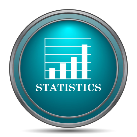 commerce and industry: Statistics icon. Internet button on white background.