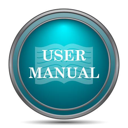 Bedienungsanleitung Symbol. Internet-Button auf weißem Hintergrund. Standard-Bild - 60019292