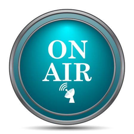 live stream sign: On air icon. Internet button on white background. Stock Photo