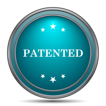 secured: Patented icon. Internet button on white background.
