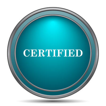 accepted: Certified icon. Internet button on white background. Stock Photo