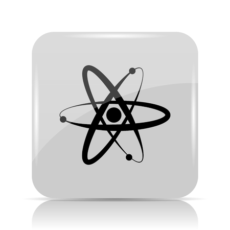 gamma: Atoms icon. Internet button on white background.