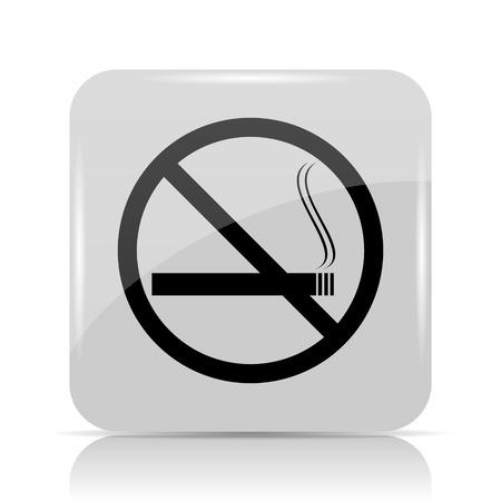 interdiction: No smoking icon. Internet button on white background.
