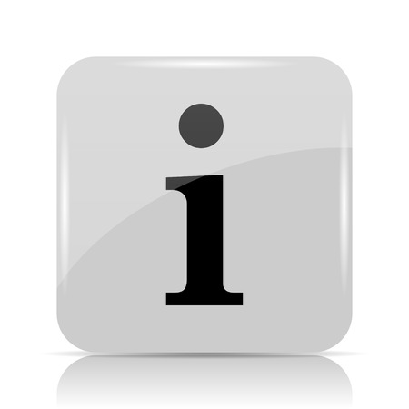 icons site search: Info icon. Internet button on white background.
