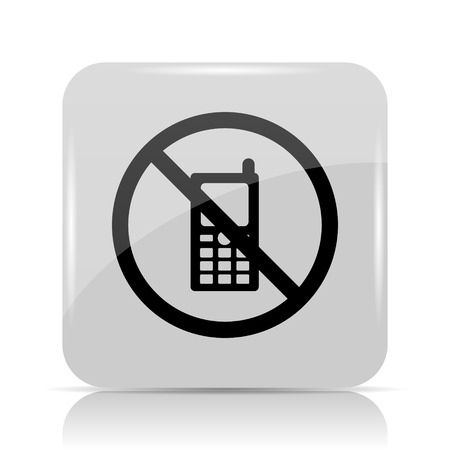 no cell phone sign: Mobile phone restricted icon. Internet button on white background.