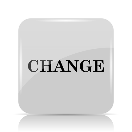 evolve: Change icon. Internet button on white background.