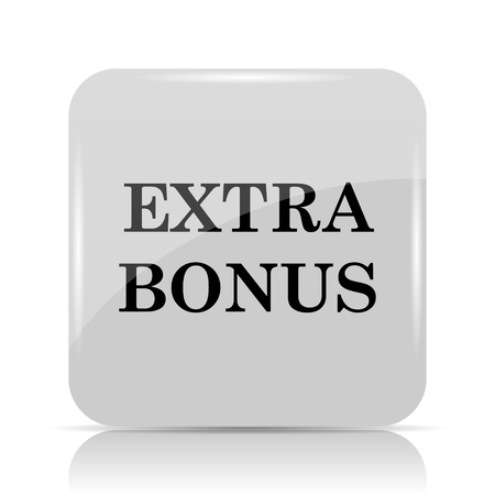 additional: Extra bonus icon. Internet button on white background.