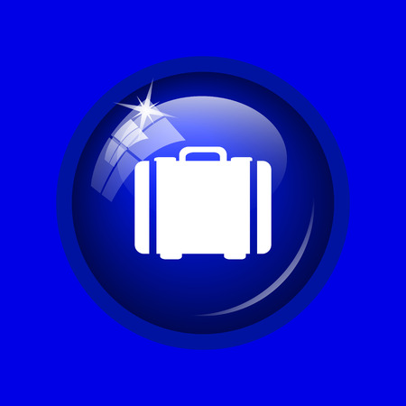 hotel manager: Suitcase icon. Internet button on blue background.