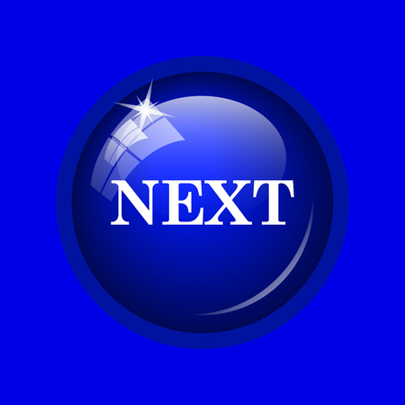 slideshow: Next icon. Internet button on blue background.