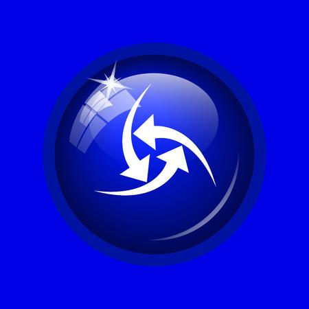succes: Change icon. Internet button on blue background.