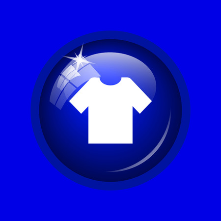 t short: T-short icon. Internet button on blue background.