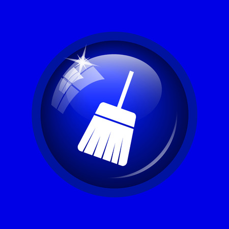 sweep: Sweep icon. Internet button on blue background.