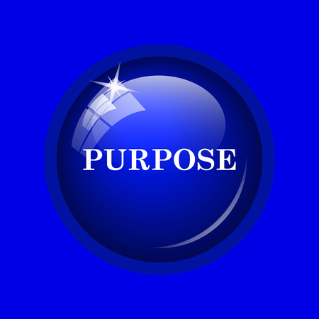 purpose: Purpose icon. Internet button on blue background.
