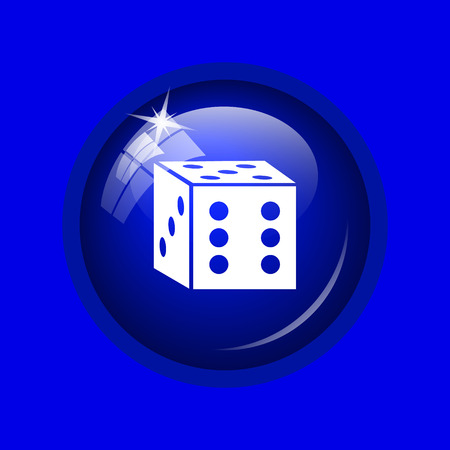 odds: Dice icon. Internet button on blue background.