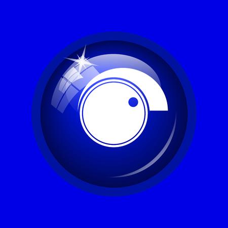volume control: Volume control icon. Internet button on blue background. Stock Photo