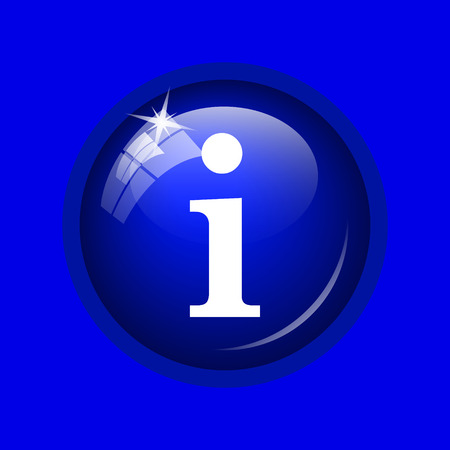 icons site search: Info icon. Internet button on blue background.