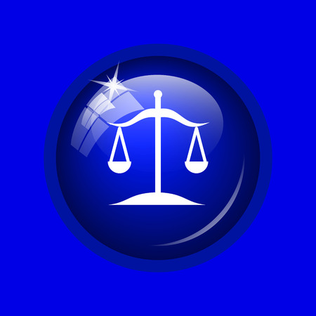 trial balance: Balance icon. Internet button on blue background.