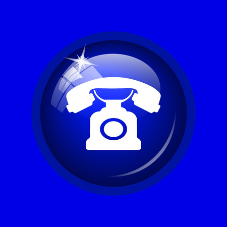 phone button: Phone icon. Internet button on blue background.