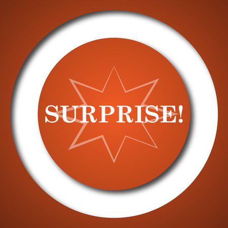 amazement: Surprise icon. Internet button on white background. Stock Photo